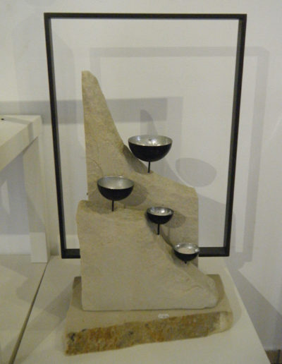 Lansmann: Kerzenhalter Sandstein
