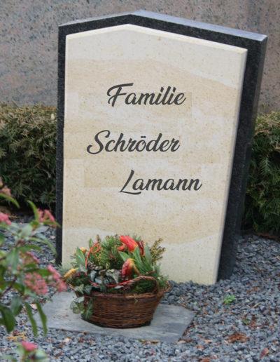 Lansmann: Grabstein Granit