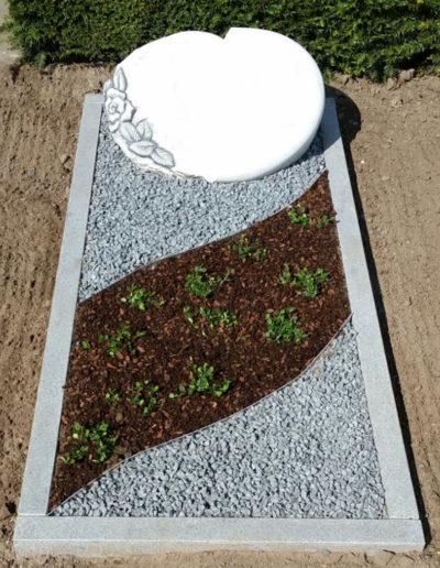 Lansmann: Grabeinfassung Granit Einzelgrab
