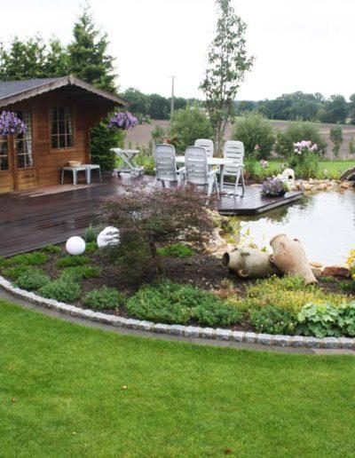 Lansmann: Gartenumgestaltung mit Gartenteich, Gartenhaus